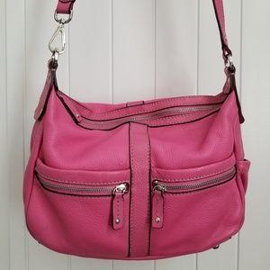 Tignanello pink crossbody large handbag